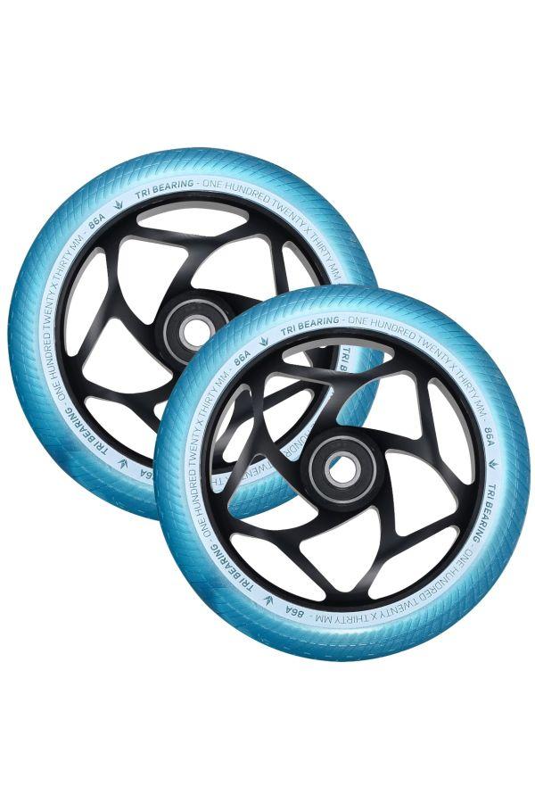 Blunt Envy 120mm/30mm Tri Bearing Wheel Pair - Teal