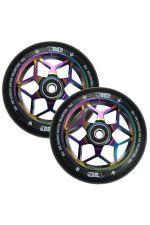 Blunt Envy Diamond Scooter Wheel Pair - 110mm x 24mm - Oil Slick / Black